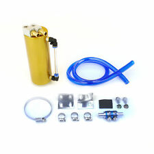 750ML ALUMINUM BILLET OIL RESERVOIR CATCH TANK CAN TURBO CHARGED NA GOLD
