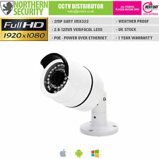 SONY IMX 2MP 3.6MM 1080P POE P2P 30M IR NIGHT VISION BULLET NETWORK IP CAMERA