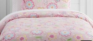 Pottery Barn Kids Pink Butterfly Samantha Twin Duvet Cover