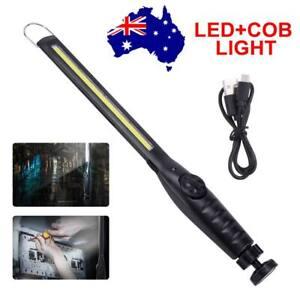 LED COB Work Light Inspection Lamp Flashlight Cordless Magnetic USB Rechargeable