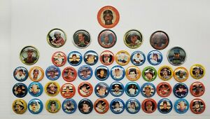 1984 MLB Fun Foods Pinbacks Lot Of 51 Vintage 1988 Topps Buttons 711 Sports Coin