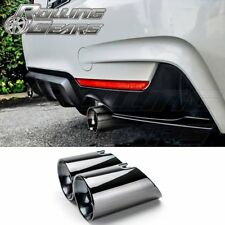 "BMW 4er F32 F33 F36 435i GC Black Dual Exhaust Muffler 3.5"" Tips, 2014-2017 N55"
