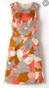 Boden Retro 70s Pink Dress Pockets Mod Coral Size 20 L 60s Mary quant