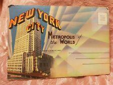 New York - Vintage Accordion-Style Picture Postcard - Unused