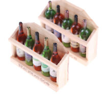 5Pcs Magnet Fridge Wine Bottles Dollhouse Miniature Kitchen toy  for Doll  FO