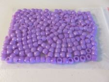 Pony Beads - 8x6mm Plastic - 200pcs - Purple - NEW - AUS SELLER