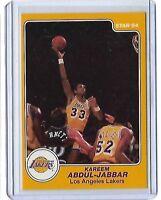 1983-84 Star # 14 KAREEM ABDUL JABBAR Los Angeles Lakers Basketball Card