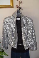 3 Sisters Jacket Sparkle S,M,L Crop Cardigan Dressy Coat 5110 3S967