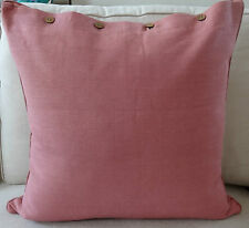 "PLAIN DYED LARGE CUSHION COVER ""DUSTY PINK"" 60 x 60  COTTON CUSH COVER"