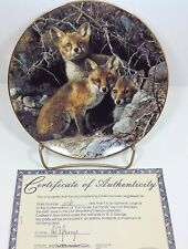 Our Woodland Friends Full House Fox Family Bradford Exchange Plate #6