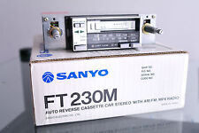 Sanyo FT230M Auto Reverse Cassette Car Radio Stereo Vintage NOS Boxed