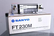 Sanyo FT230M Cassette Car Radio Stereo Vintage NOS Boxed Ferrari Porsche Lotus