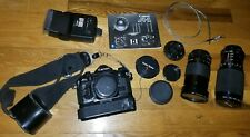 Canon A-1 35mm w/ Accessories and Lens Bundle SLR