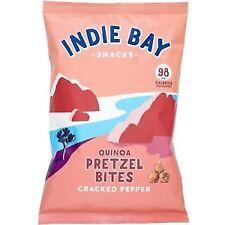 Indie Bay Snacks Quinoa Pretzel Bites Pepper 26g (Pack of 5)