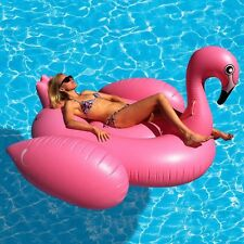 Giant Inflatable Flamingo Water Float maintessituations Ride on Piscine Lounger Beach Toy