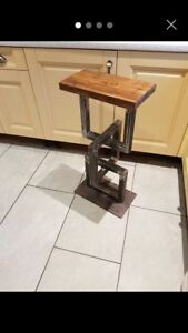 Rustic Handmade Reclaimed Bar Stool