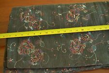 "By-the-Half-Yard, 54"" Embroidery & Sequins on Brown 16-Wale Crepe Corduroy, A415"