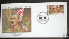 """Marshall Island """"WORLD WAR 2 ~ FALL OF CORREGIDOR """" FDC 1992 !"""