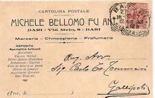 BARI - MICHELE BELLOMO fu Ant. Via Melo,8  Merceria - Chincaglieria - Profumeria