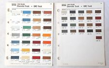 1980 CHEVROLET TRUCK AND GMC SHERWIN WILLIAMS  COLOR PAINT CHIP CHART GM