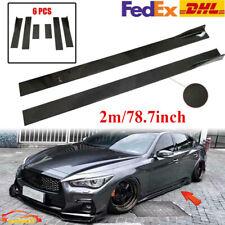 78.7'' Carbon Fiber Side Skirt Lip Rocker Panel For Infiniti Q50 Q60 Q70 Q80 DHL