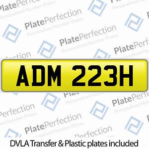 ADM 223H ADAM ADAMS CHERISHED PRIVATE NUMBER PLATE DVLA REGISTRATION