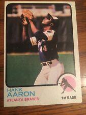 1973 Topps Hank Aaron #100 HOF Atlanta Braves