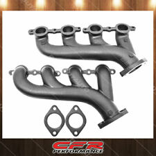 Cast Iron Exhaust Manifolds Fits 2002-2012 Chevy LS Based Raw