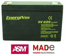 Batería de plomo AGM - 6V 12Ah - EnergiVm MV6120