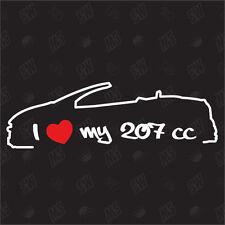 I love my 207 CC Adesivo ,anno di cost. 06-12,Auto adesivo,Decal,JDM,Peugeot