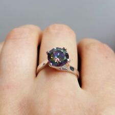 925 Sterling Silver Engagement Ring Size 7