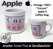 Apple Computer Cocoon Coffee Mug Vintage 1980's Apple II Rare Collectible