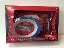 New Disney Store Cars 2 Meal Time Magic 4 Piece Set BPA Free World Grand Prix