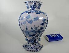 Vase Kaminvase im Delft Stil blau/weis Handbemalt  XIX Jh.