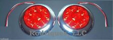 Flat Mount Large Round LED Taillights Roll Pan Bumper Custom Chevy Pickup Truck