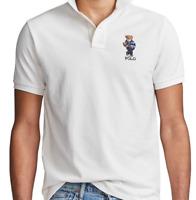 Polo Ralph Lauren Men's Custom Slim Fit Mesh Bear Polo Shirt - Size L