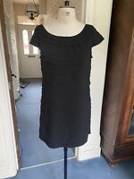 SIZE 12 FRENCH CONNECTION LAYERED DRESS MIDI COCKTAIL PARTY ZIP FIT AND FLARE