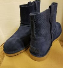 NIB Womens Size 8 UGG AUSTRALIA Classic Mini Ankle Boots Navy Blue Shade