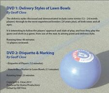 Lawn Bowls Coaching DVDs - Full Set of 5 Different DVDs - Refer other listings