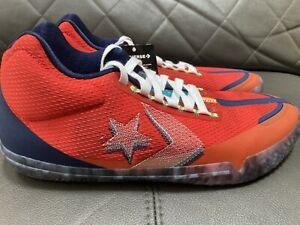 Converse All Star BB Evo Court Daze Low Size 11.5 Red Blue Men Basketball Shoes