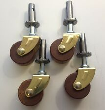 """Wood Furniture Caster 1-1/4"""" Dia. Wheel X 5/8"""" Thick, (Set of 4), C-4A"""
