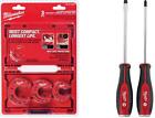 Plumbing Hand Tools Tubing Cutter Set 3-Piece Demo Screwdriver Drivers Steel Cap