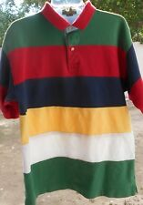 Classic Rugby Style Mens Shirt Xl Short Sleeve Red Stripe Briar Traditional