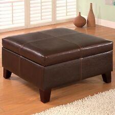 Coaster Storage Ottoman -Dark Brown 501042