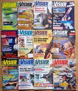 Visier 1995 komplett Waffen-Magazin Zeitschrift Pistolen Hefte Sammlung Jahrgang
