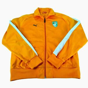 Puma Ivory Coast Jacket Size Large Mens Track Football Soccer Côte D'ivoire