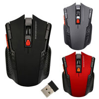 AM_ Cy_ 2.4G Wireless 6 Keys 1600DPI Auto Sleep Optical Gaming Mouse Mice for PC