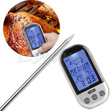 BBQ Digital Thermometer Wireless Remote Food Cooking Meat Barbecue Thermometer