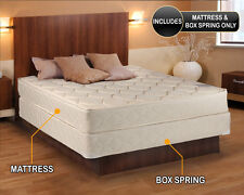 """Comfort Classic Gentle Firm King size (76""""x80""""x9"""") Mattress and Box Spring Set"""