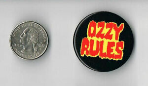 OZZY OSBOURNE Diary of a Madman LP Album PROMO Ozzy Rules PIN Button Badge
